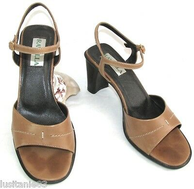 Ravella - Heeled Sandals all Leather Light Brown 38.5 - Very Good Condition