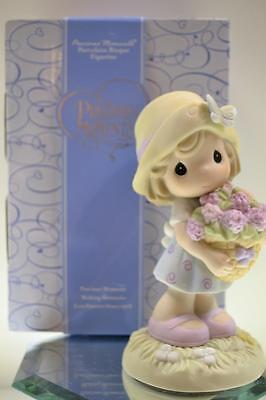 Precious Moments Figurine HEART OF A MOTHER Girl 640002 New in Box FREEusaSHP
