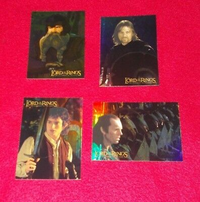 Lord Of The Rings Fellowship Of The Ring Foil Trading Cards   - Choose Card