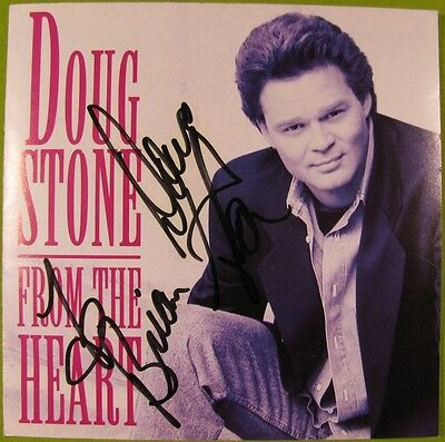 Signed / Autographed - From the Heart by Doug Stone (CD, 1992, Sony)