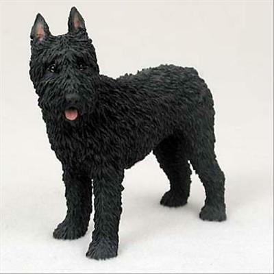 Bouvier des Flandres Cropped Dog Hand Painted Collectable Figurine Statue
