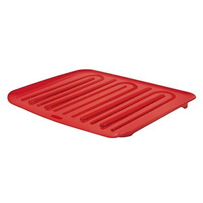 New Rubbermaid Antimicrobial Drain Board Red Large Fg1182Mared Racks Holders NIB