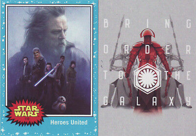 JOURNEY TO STAR WARS  THE LAST JEDI Trading Card set of 110 + DARKNESS RISES 6