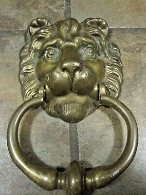 "Peerage (England) Brass Door Knocker, 8½"" X 5"" , Vguc"
