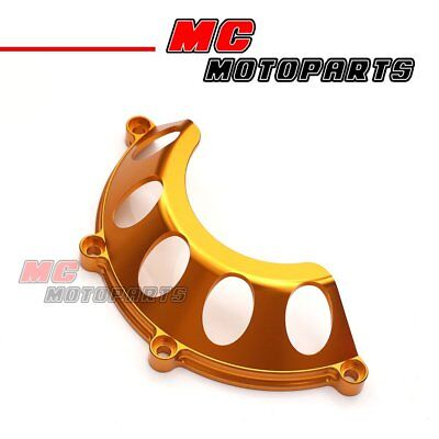 Gold CNC Half Clutch Cover For Ducati Hypermotard 1100 HY M1100 M750 CC35