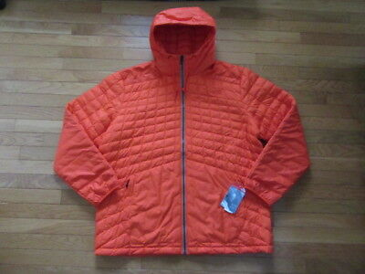 4856a3a03 North Face Mens Thermoball Snow Hoodie Jacket, Acrylic Orange, Nwt $220, 2Xl