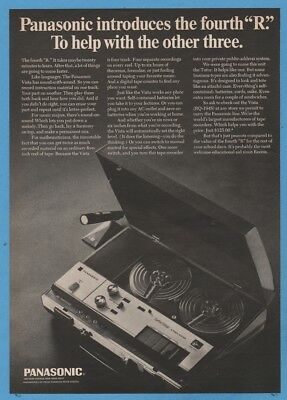1968 Photo ad for Panasonic National RQ-194 S Reel to Reel Tape Recorder