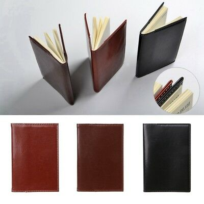 Mini Pocket Notebook Portable Journal Diary Book PU Leather Cover Note Pads