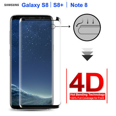 Samsung Galaxy S8 Plus Note 8 4D Full Coverage Tempered Glass Screen Protector