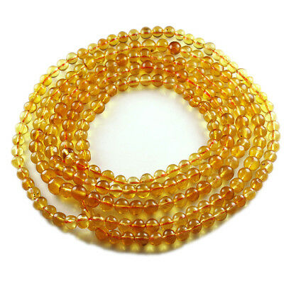 22.93g 100% Natural Mexican Golden Amber Bead Bracelet Necklace CSFb561