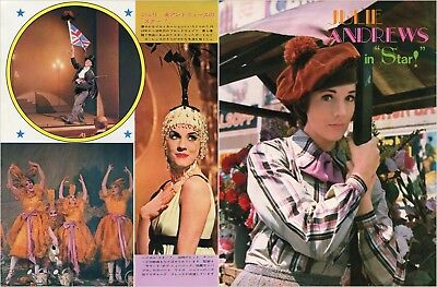 JULIE ANDREWS Star! 1967 Vintage Japan Picture Clippings 2-Pages #FH/P
