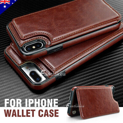 Apple iPhone X 8 7 PLUS Case Flip Leather Wallet Card Shockproof Cover Stand