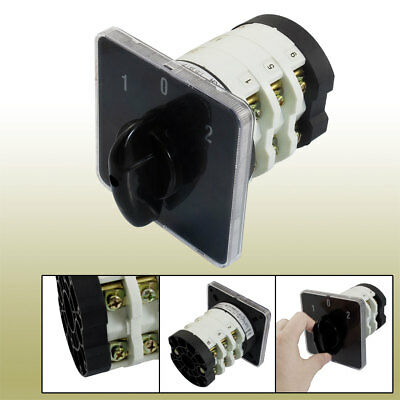 690V 50A 12 Terminals 3 Positions Rotary Cam Changeover Switch