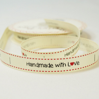 1m /& 2m Bertie/'s Bows /'Baked with love/' heart 16mm Grosgrain Ribbon
