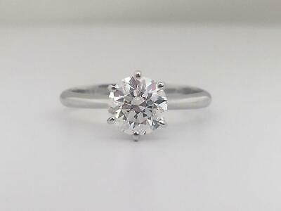 Real Diamond Solitaire Engagement Ring 1 Carat Ct Round Cut 14K White Gold D SI1