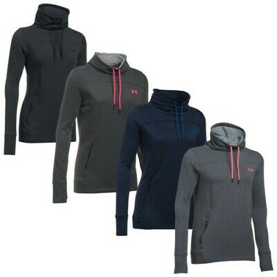 37652353fc Under Armour Ladies Featherweight Fleece Slouchy Top - UA Funnel Neck Hoodie