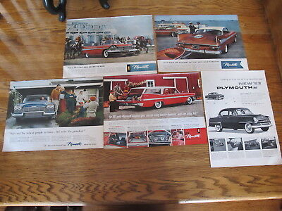 Vint.1953/59,plymouth Cars Lot Print Ads,clippings