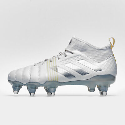adidas Mens Kakari X Kevlar Soft Ground Rugby Boots Sports Shoes Studs White