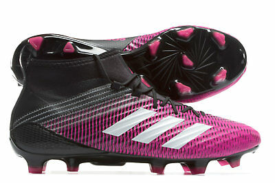 adidas Mens Predator Flare Firm Ground Rugby Boots Sports Shoes Studs Pink