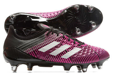 adidas Mens Predator Malice Control SG Rugby Boots Sports Shoes Studs Pink