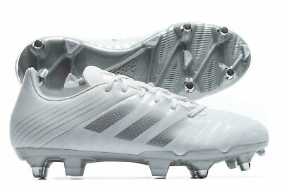 adidas Mens Malice Soft Ground Rugby Boots Sports Shoes Studs White