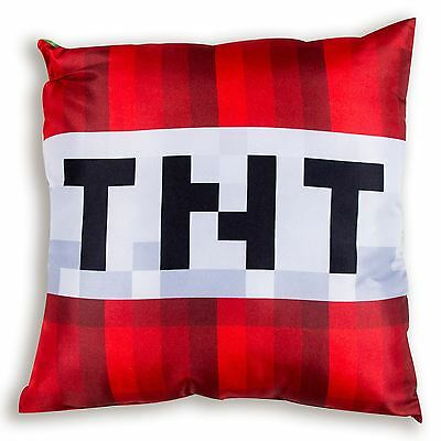 Minecraft Craft Reversible Filled Cushion Creeper Tnt Block Green & Red Official