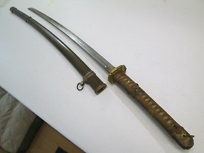 Ww2 Japanese High Quality Officers Sword With Scabbard With Blood Groove