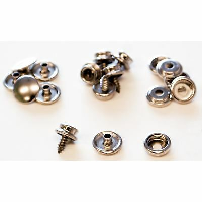 Lord & Hodge 1110A Brass Nickel Plated Screw Stud Snap Fastener Refills 6-ct