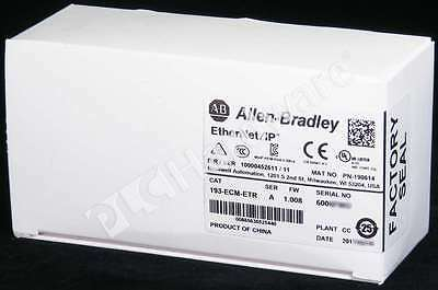 New Sealed Allen Bradley 193-ECM-ETR /A 2017 E300 2-Port ENet/IP Communication