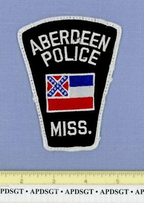 ABERDEEN MISSISSIPPI Police Patch NASA SPACE ROCKET STATE SHAPE OLD RIVERBOAT