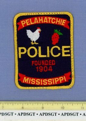 PELAHATCHIE MISSISSIPPI Sheriff Police Patch ROOSTER HEN STRAWBERRY