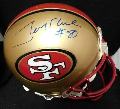 b184faaf4 Jerry Rice Signed San Francisco 49ers Authentic Riddell Full Size Helmet JSA