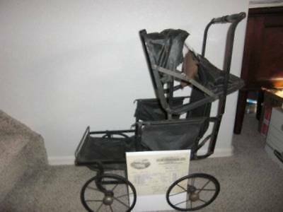 H. N. Thayer Co. ~ Antique 1919 Children's Doll Carriage w Receipt