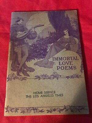 "Los Angeles Times Home Booklet 1939 Vintage  Excellent ""Immortal Love Poems"""