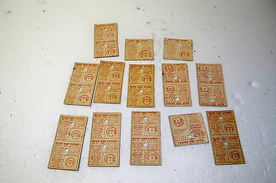 Vintage MALLO CUP PLAY MONEY Points COIN CARDS lot of 13