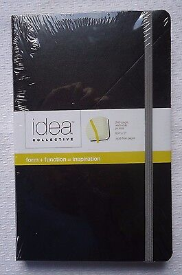Idea Collective Journal  Hard Cover Binding, 5-1/4 x 8-1/4 Black Factory Sealed