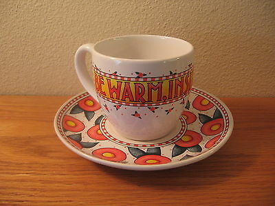 VINTAGE MARY ENGELBREIT Cup And Saucer Be Warm Inside And Out