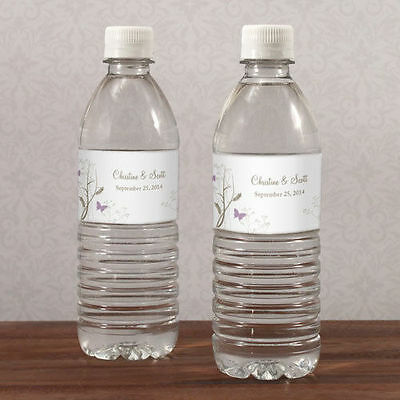 100 Romantic Butterfly Water Bottle Labels Bridal Shower Wedding Favors