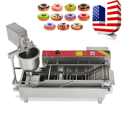 Commercial Automatic GAS&Electric Donut Making Machine Donut Fryer 3 size outlet