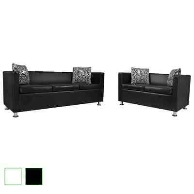schwarzes kunstleder sofa 3 sitzer eur 30 00 picclick de. Black Bedroom Furniture Sets. Home Design Ideas