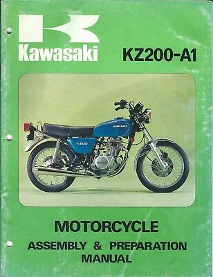 Motorcycle Manual - Kawasaki - KZ200-A1 - Assembly Prep Specifications (DC600)