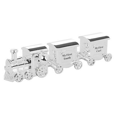Loco Train And Carriage My First Tooth  Curl Baby Christening Gift Set