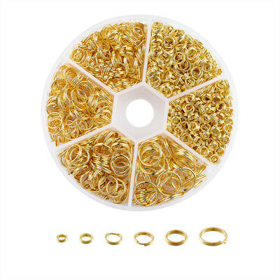 1 Box 4mm/5mm/6mm/7mm/8mm/10mm Golden Iron Double Mixed Split Rings Jump Rings