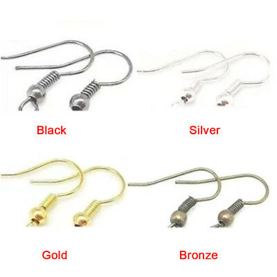 Fashion Plated Silver Earring Hook Coil Ear Wire For Jewelry Making Ear Hook MO