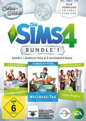 Die Sims 4 Wellness Tag + Luxus-Party-Accessoires + Sonnenterrassen Bundle PC EU