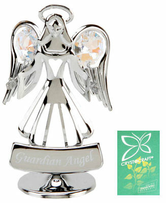 Collectable Keepsake Crystocraft Crystal Gift Guardian Angel Swarovski Elements