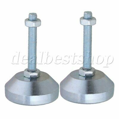 2Pieces 50mm Adjustable Furniture Feet M8x50mm Thread for Machine Tools