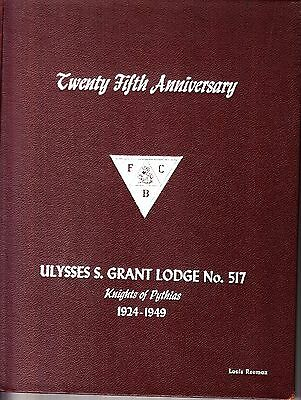 25th Anniversary Ulysses S. Grant Lodge No. 517 Knights of Pythias 1924-1949 NYC