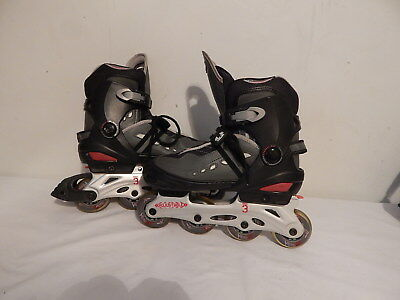 Men's Roller Blades Inline Skates Size 5-8 Adjustable Thruster  Grey Black