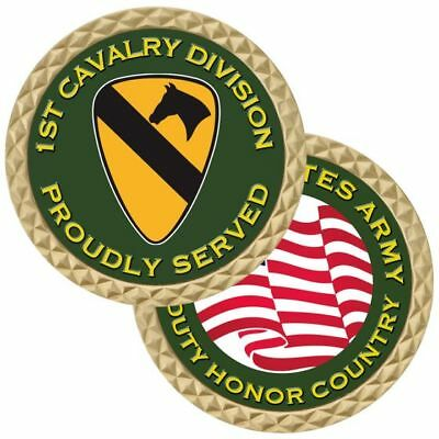 """ARMY CAVALRY 1775 CROSSED SABRE SWORDS 1.75/"""" CHALLENGE COIN"""
